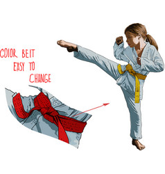 karateka girl vector image