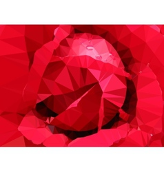low poly floral summer background vector image vector image