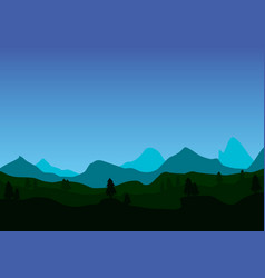 mountains in the fog vector image vector image