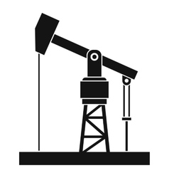 Oil pump icon simple style vector