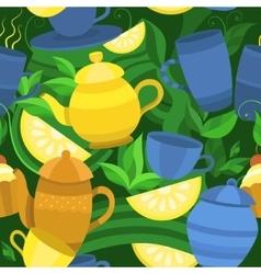 seamless pattern of tea vector image