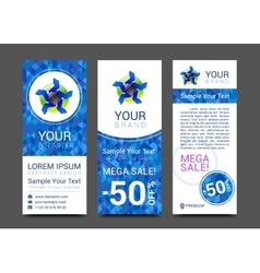 set of vertical banners for your business ad to vector image vector image
