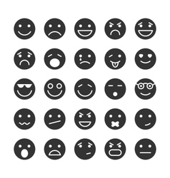 Smiley faces icons set of emotions vector image vector image