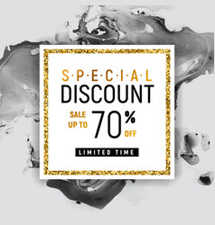 special discount square golden banner template vector image