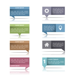 Speech Bubbles with Reflection vector image vector image