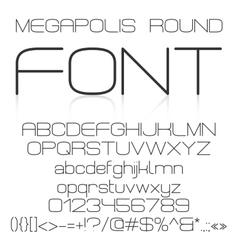 Trendy modern elegant font alphabet vector