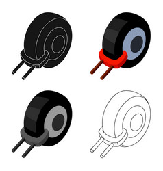 Wheel clamp icon in cartoon style isolated on vector