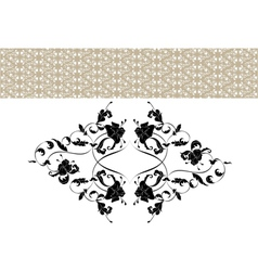 Vintage ornate seamless pattern in rococo style vector