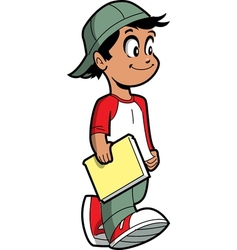 Boy with book vector