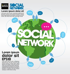 Social networking conceptual vector