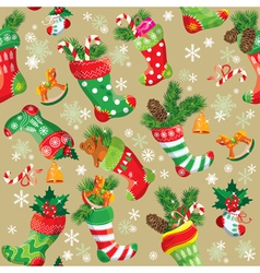 X-mas and New Year background with Christmas stock vector image