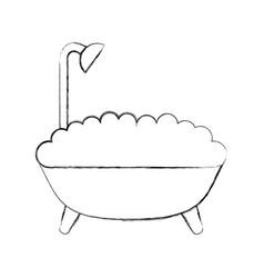 Bathtub service isolated icon vector