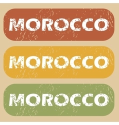 Vintage morocco stamp set vector