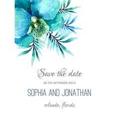 Wedding invitation watercolor vector image