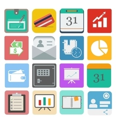 Business set icon vector