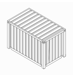 Cargo container icon isometric 3d style vector