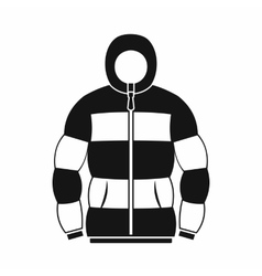 Hoodie icon in simple style vector