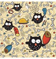 bird bones wallpaper vector image