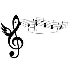 Bird singing vector image vector image