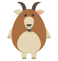 Brown goat on white background vector