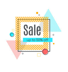 colorful abstract frame for sale styled banner vector image vector image