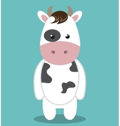 Cute cow animal farm isolated icon design vector