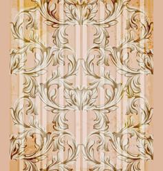 Damask ornament vintage background vector