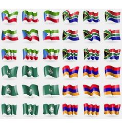Equatorial guinea south africa macau armenia set vector