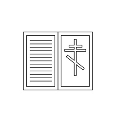 Eulogy death symbol icon outline style vector