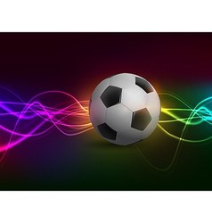 Football with light on colorful background vector