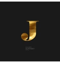 Golden letter j vector