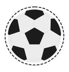 Isolated ball of soccer sport design vector