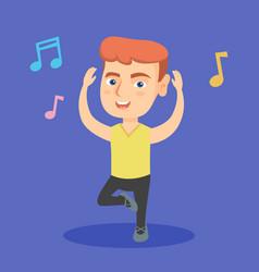 little caucasian boy dancing vector image vector image
