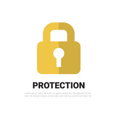 lock icon padlock protection and security concept vector image vector image