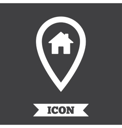 Map pointer house sign icon Marker symbol vector image vector image