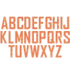 Mosaic font vector