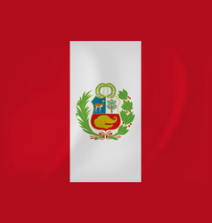 peru waving flag vector image
