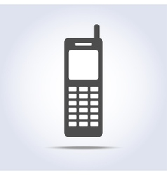 Phone retro icon gray colors vector image vector image