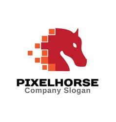 Pixel Horse Design vector image vector image