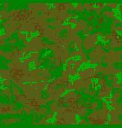 Seamless camouflage of pixel pattern vector