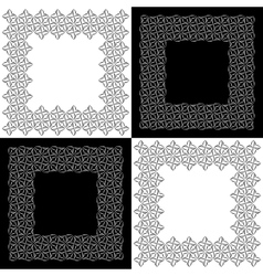 Set of Four Lacy Floral Frames vector image vector image