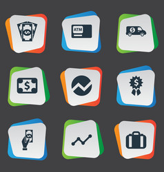 Set of simple bill icons vector