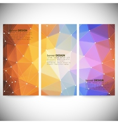 Set with polygonal abstract shapes circles lines vector