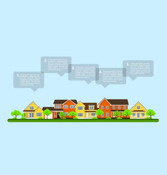 small town infographic vector image