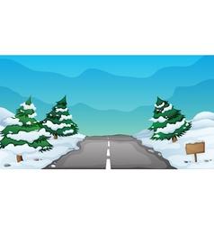 snowy landscape vector image vector image