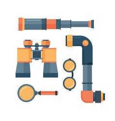 spyglass telescope lens vector image