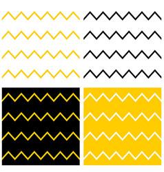 Tile pattern set with zig zag chevron vector