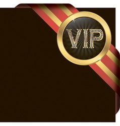 VIP Gold Ribbon Label vector image vector image