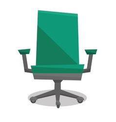 Green office chair vector