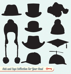 Hats and caps collection vector
